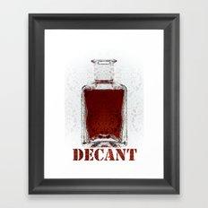 Decant Framed Art Print