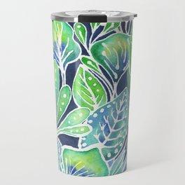 Masked Flora Collection Leaves Travel Mug