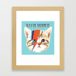 david meowie Framed Art Print