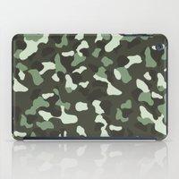 camo iPad Cases featuring CAMO by Brukk