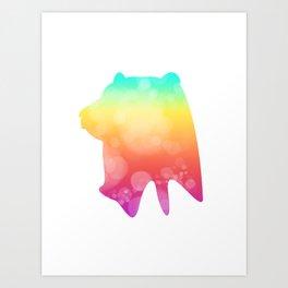 Neonimals: Bear Art Print