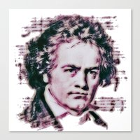 beethoven Canvas Prints featuring Beethoven by Zandonai