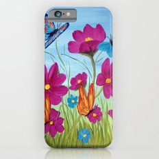 Butterflies and flowers  iPhone 6s Slim Case