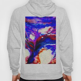 Cobalt and Violet Abstract Hoody