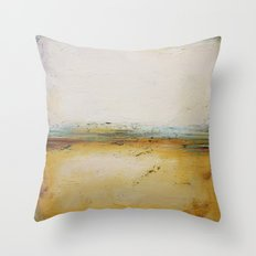 Sand and Snow - Textured Abstract Painting Throw Pillow
