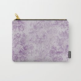 Lavender floral vintage damask pattern Carry-All Pouch
