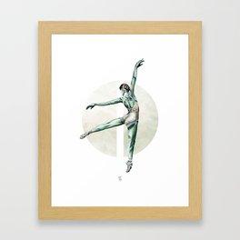 Aquarelle Ballerina 04 Framed Art Print