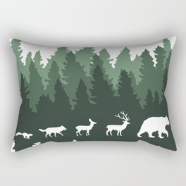 The Walk Through The Forest Rectangular Pillow