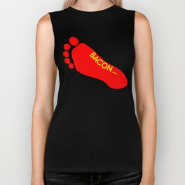 Bacon Foot Tattoo Biker Tank