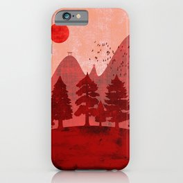 Hills and mountains of Japan iPhone Case