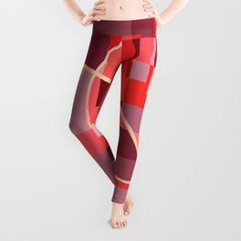 Abstract overlapping art Leggings