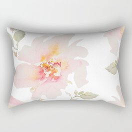 Pink Spring Flower Rectangular Pillow