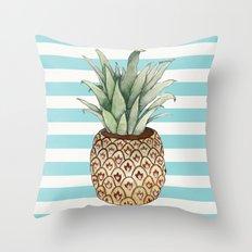 Pineapple vase Throw Pillow
