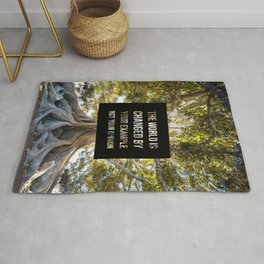 The world is changed by your example - Earth Collection Rug