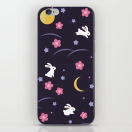 Moon Rabbits V2 iPhone Skin