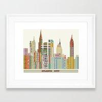 atlanta Framed Art Prints featuring Atlanta by bri.buckley