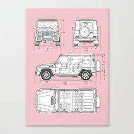 GWAGON BLUEPRINT (pink) Canvas Print