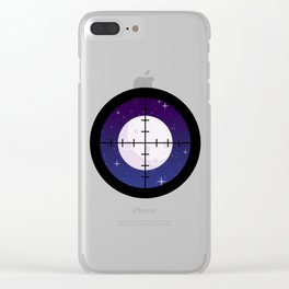 Aim for the Moon Clear iPhone Case