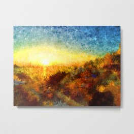 burning sun Metal Print