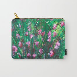 """WOODLAND SPRING"" Original Painting by Cyd Rust Carry-All Pouch"