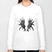 antlers Long Sleeve T-shirts featuring Antlers by KesuOriesok