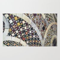 jewish Area & Throw Rugs featuring Mosaic Tile Vatican Floor (Hidden Jewish Star) by Amanda Lynn Granek