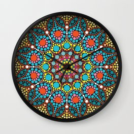 Dot mandala pattern Wall Clock