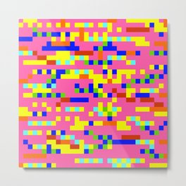 Pink Candy Camouflage Metal Print