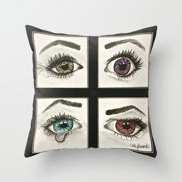 Eyes Show Emotions Throw Pillow