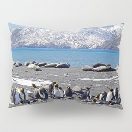 King Penguins and Fur Seals Pillow Sham