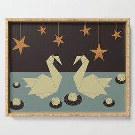 Origami swan Serving Tray