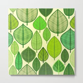 Delightful leaf pattern Metal Print