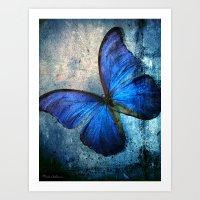 butterfly Art Prints featuring butterfly  by mark ashkenazi