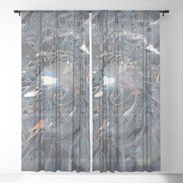 Big bang explosion Sheer Curtain