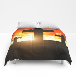 Good friday easter ressurection Comforters
