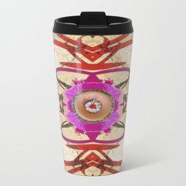 Playful Light Mandala Metal Travel Mug