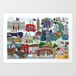The Queen's London Day Out Art Print