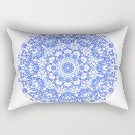 Mandala 12 / 1 eden spirit indigo blue Rectangular Pillow