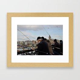 Fishing at Halic Framed Art Print