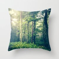 woodland Throw Pillows featuring Inner Peace by Olivia Joy StClaire