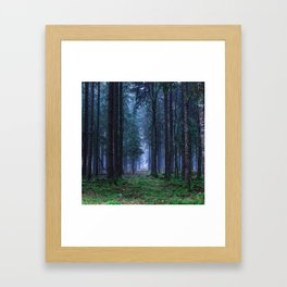Green Magic Forest - Landscape Nature Photography Framed Art Print