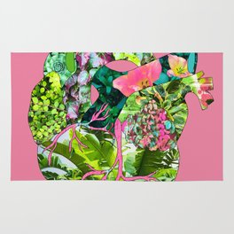 Botanical Heart Pink Rug