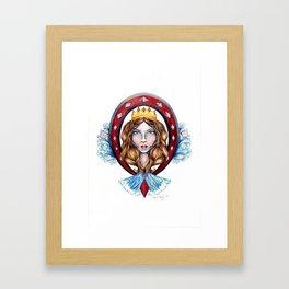 Nautical Diamond Queen Framed Art Print