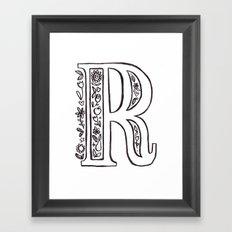 R is for Framed Art Print