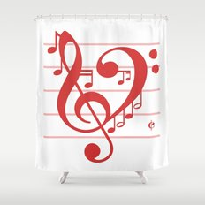 Love Music ~ Valentines Edition ~ Shower Curtain