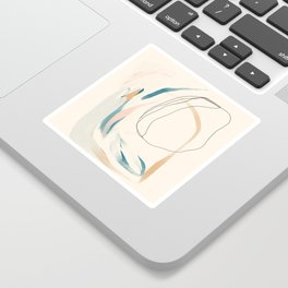 Abstract Lines On Cream. Sticker