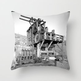 Lost Horse Gold Mill Throw Pillow