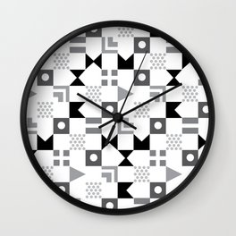 Pattern Pandemonium-Black Wall Clock
