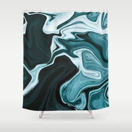 Elegant Dark Marble Texture Shower Curtain