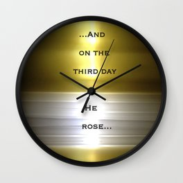 Risen (No.6 Textile Series) with Text Wall Clock